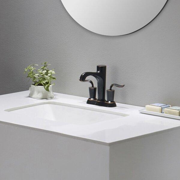 Elavo Ceramic Rectangular Undermount Bathroom Sink with Overflow by Kraus