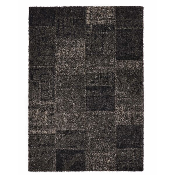 Downtown Black/Gray Area Rug by Rug Modern