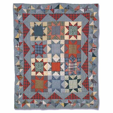 Denim Burst Crib Quilt by Patch Magic