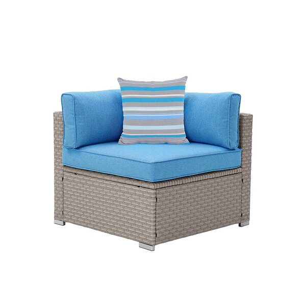 Jevon Outdoor Furniture Left Corner Patio Chair with Cushions by Rosecliff Heights