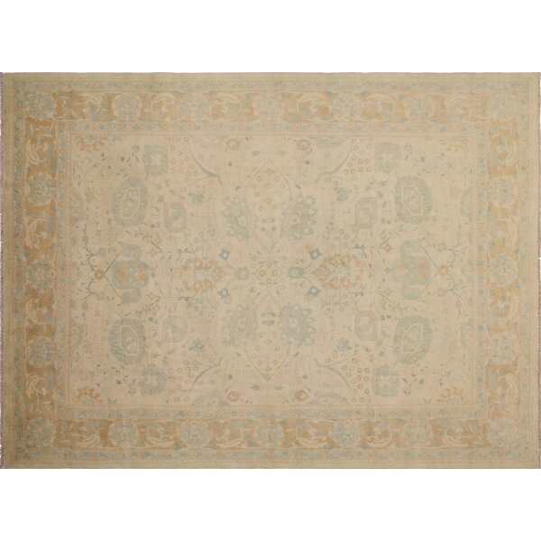 One-of-a-Kind Romona Hand-Knotted Light Tan Area Rug by Isabelline