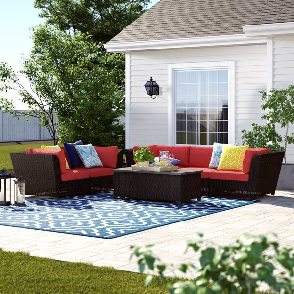 Tegan 6 Piece Sofa Seating Group with Cushions