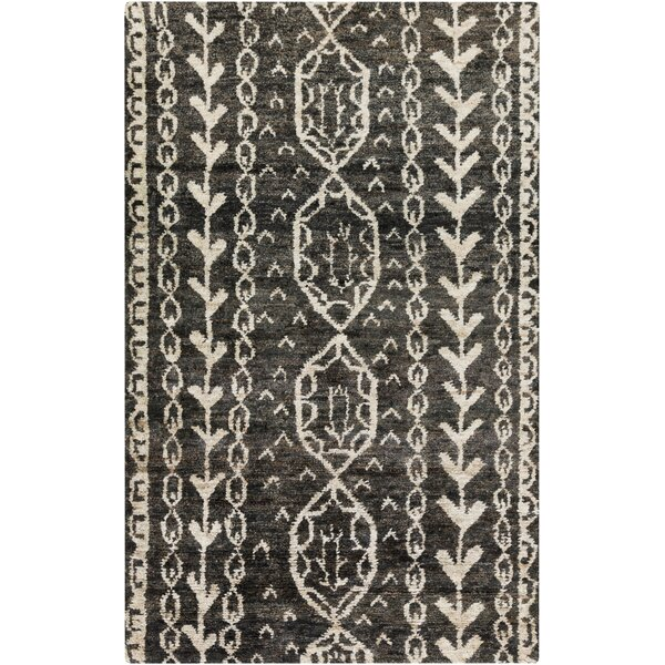 Averett Modern Hand-Tufted Wool Charcoal/Beige Area Rug by Foundry Select