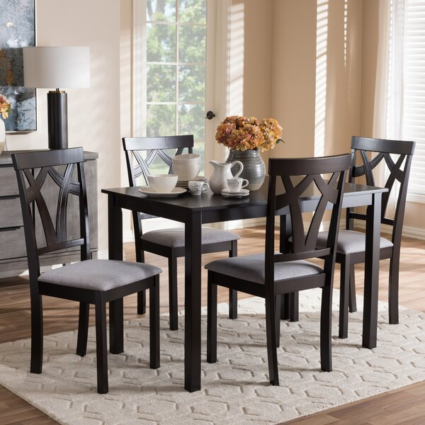 Commodore-Singh Modern and Contemporary 5 Piece Breakfast Nook Dining Set by Red Barrel Studio