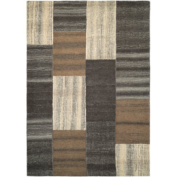 Lynn Luster Hand-Woven Brown Area Rug by Loon Peak