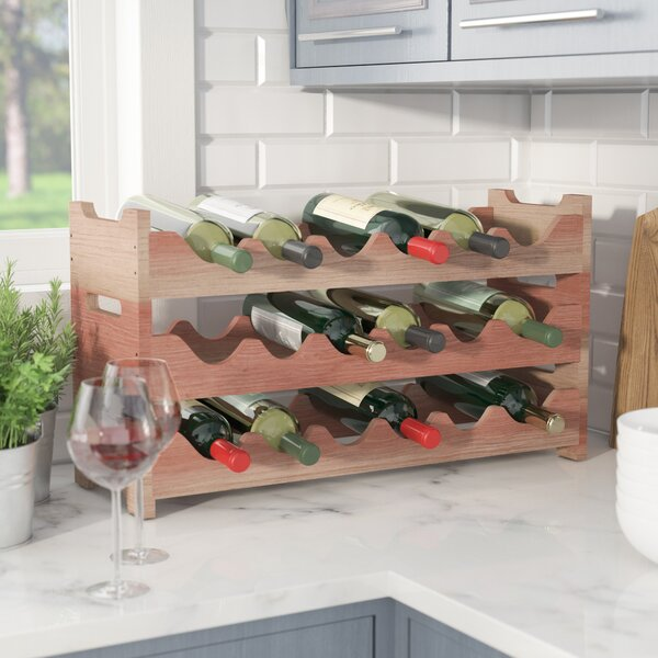 Karnes Mini Scalloped 18 Bottle Tabletop Wine Bottle Rack by Red Barrel Studio Red Barrel Studio