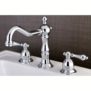 Affordable Heritage Widespread Bathroom Faucet with Brass Pop-Up Drain ByKingston Brass
