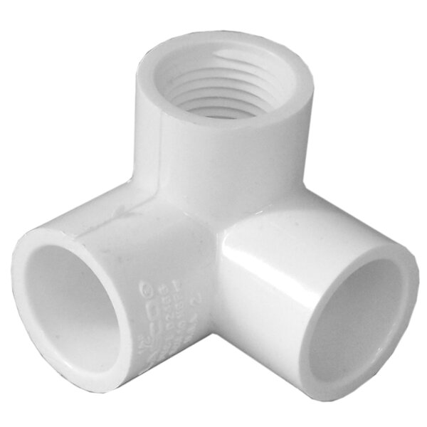 1/2 PVC 90 Elbow with Female Side Inlet by GenovaProducts