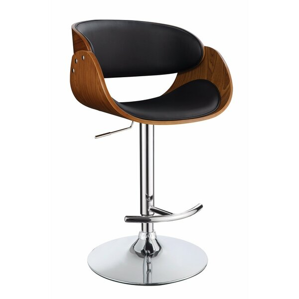 Hunsinger Adjustable Height Swivel Bar Stool by Wrought Studio