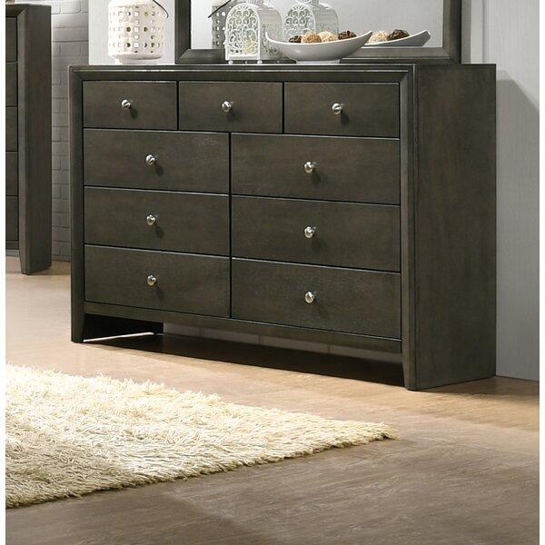Kelliher 9 Drawer Double Dresser by Ivy Bronx