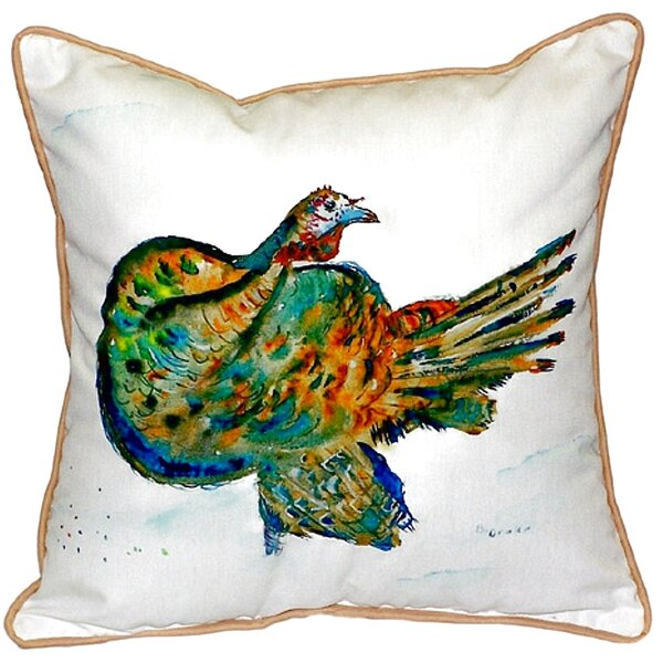 Turkey Indoor/Outdoor Throw Pillow by Betsy Drake Interiors