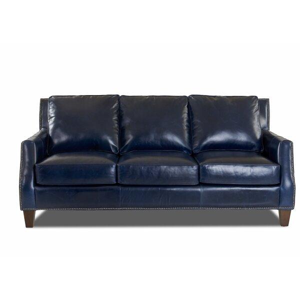Best #1 Lemons Leather Sofa By Brayden Studio Herry Up