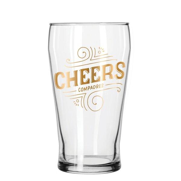 Cheers 16 Oz Pub Glass by Easy, Tiger