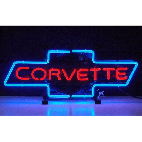 Cars and Motorcycles Corvette Bowtie Neon Sign by