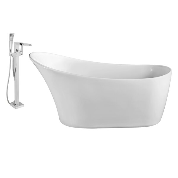 63 x 30 Freestanding Soaking Bathtub by Wildon Home ®