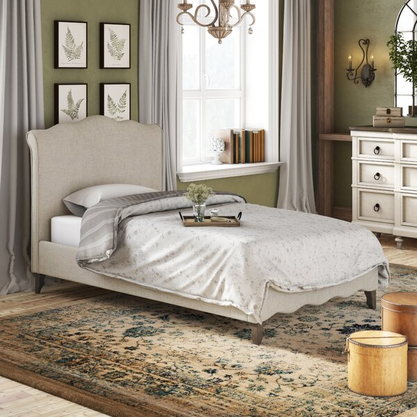 Montcalm Twin Upholstered Sleigh Bed by Lark Manor