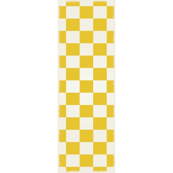 DiMartino Checker Yellow/White Indoor/Outdoor Area Rug