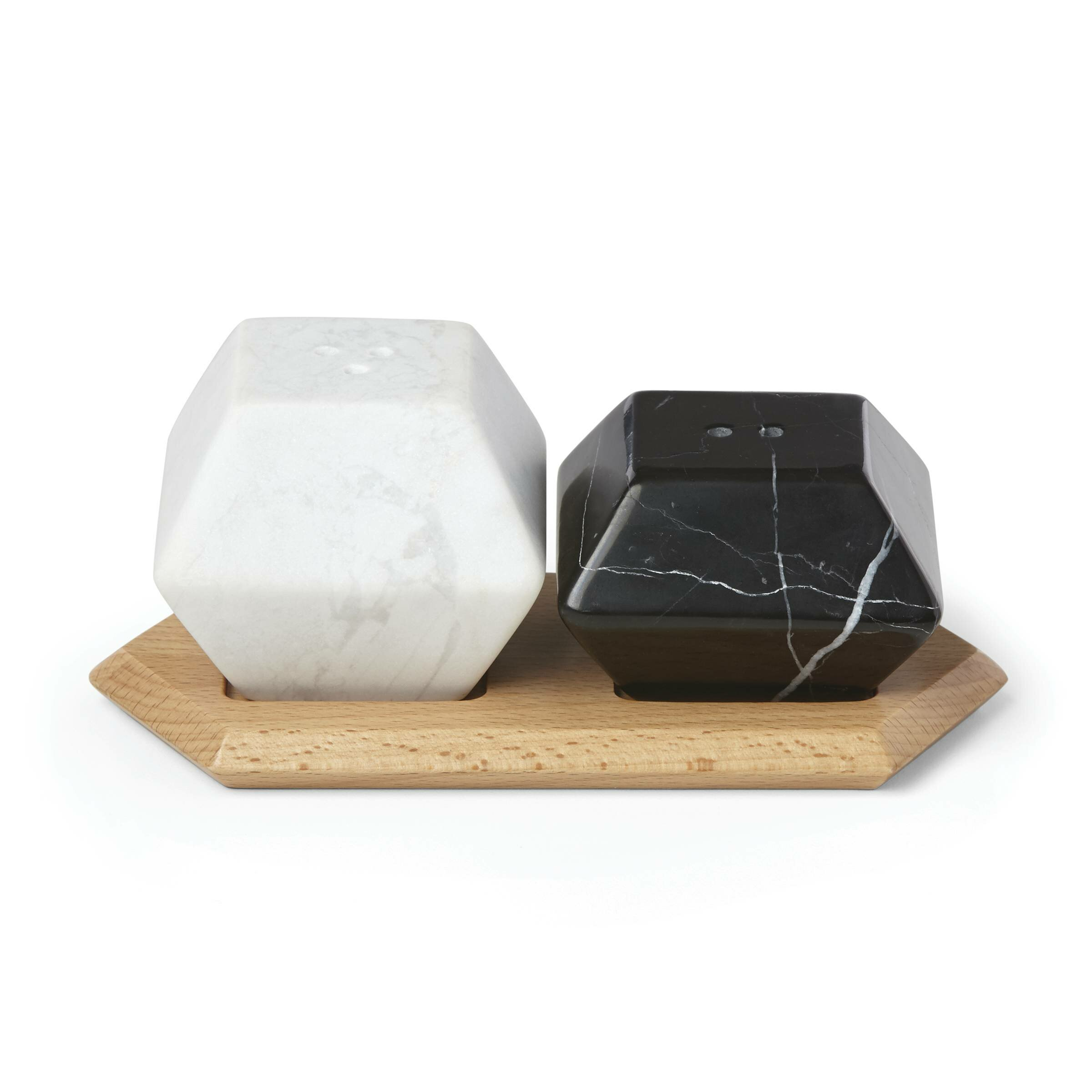 64fa85457e5 Platform Marble Salt   Pepper Shaker Set