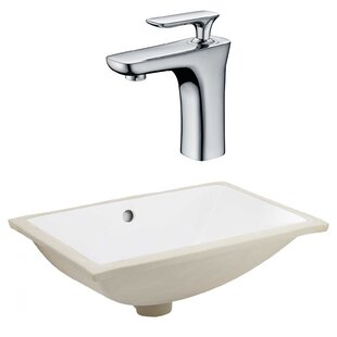 Buy luxury CSA Ceramic Rectangular Undermount Bathroom Sink with Faucet and Overflow ByRoyal Purple Bath Kitchen