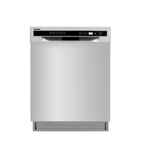 Semi-integrated 24 52 dBA Built-In Dishwasher with 2 Spray Arms by Lycan