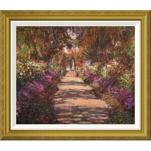 'A Lane In Monets Garden Giverny II' by Claude Monet Framed Painting Print by Global Gallery