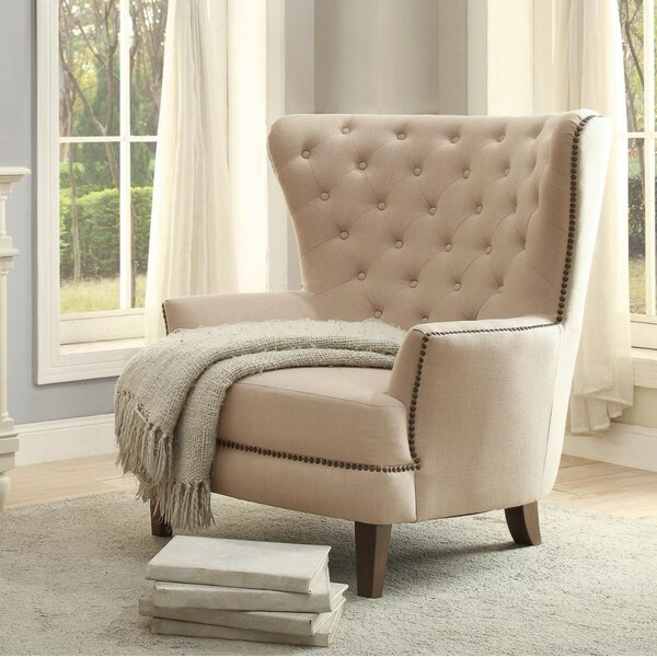 Lanham Wingback Chair By One Allium Way Savings