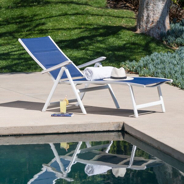 Ebern Designs Mōd Furniture EVERCHS-W-GRY Everson Padded ... on Living Accents Sling Folding Chaise id=55526