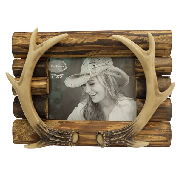 Beautiful Antler on Wood Picture Frame by Loon Peak