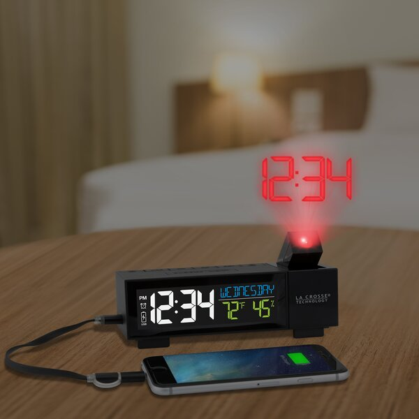 Projection Alarm Desktop Clock by La Crosse Technology