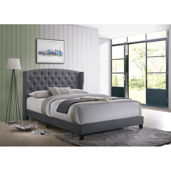Fort Calhoun Upholstered Platform Bed by Three Posts