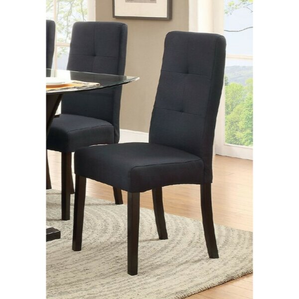 Garbutt Poplar Wood Upholstered Dining Chair (Set of 2) by Ebern Designs