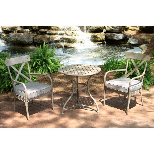 Giraud 3 Piece Bistro Set with Cushions (Set of 3) by Gracie Oaks