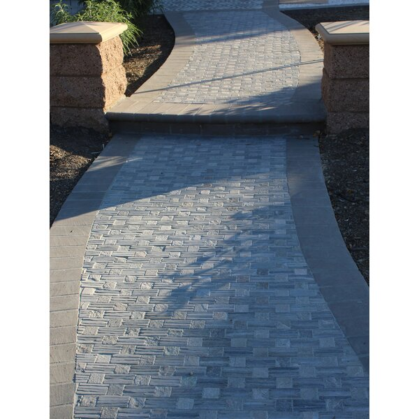 Landscape Wonder 12.5 x 12.5 Quartzite Basketweave Natural Stone Mosaic Tile in Two-tone Gray by Intrend Tile