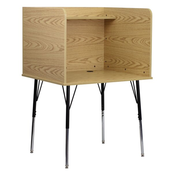Wood Adjustable Height Study Carrel by Flash Furniture