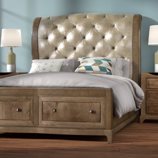 Alcalde Upholstered Storage Sleigh Bed by Willa Arlo Interiors