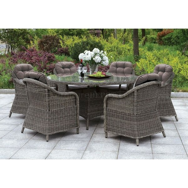 Capuano 7 Piece Dining Set with Cushions