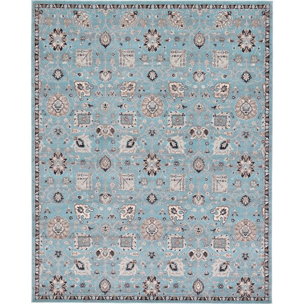 Kempf Light Blue Area Rug by Charlton Home
