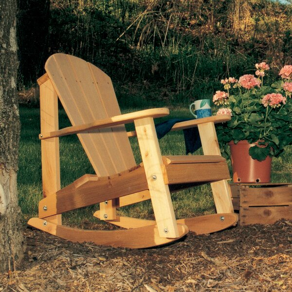 Cedar Furniture and Accessories Country Hearts Solid Wood Rocking Adirondack Chair by Creekvine Designs