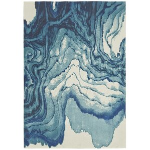 Perfect Angeline Blue Area Rug