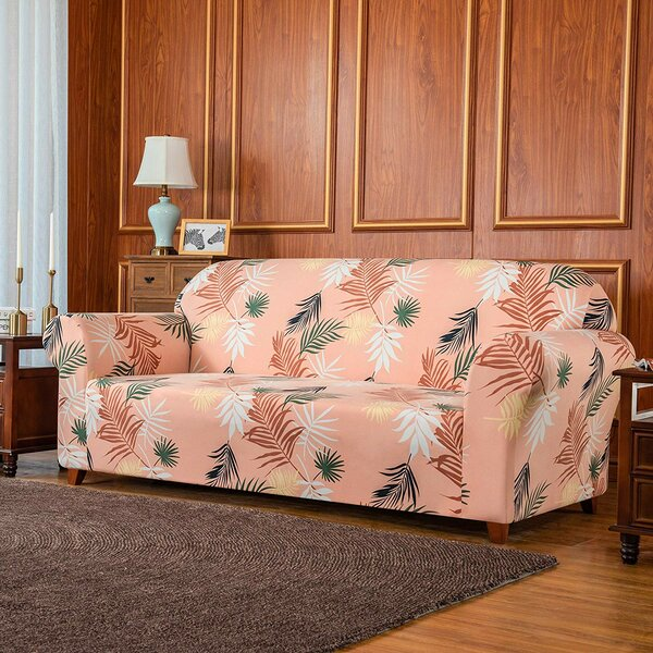 Rocco Leaves Printed Sofa Slipcover By Bayou Breeze