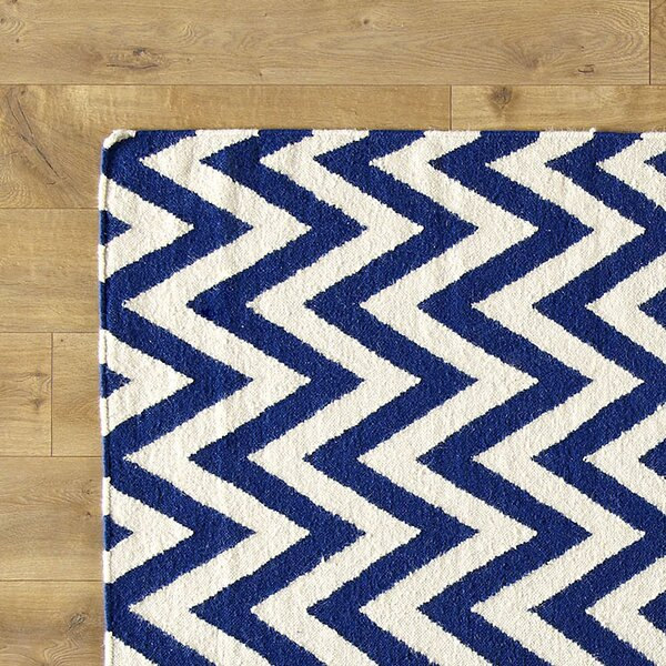 Moves Like Zigzagger Blue Rug by Birch Lane Kids™