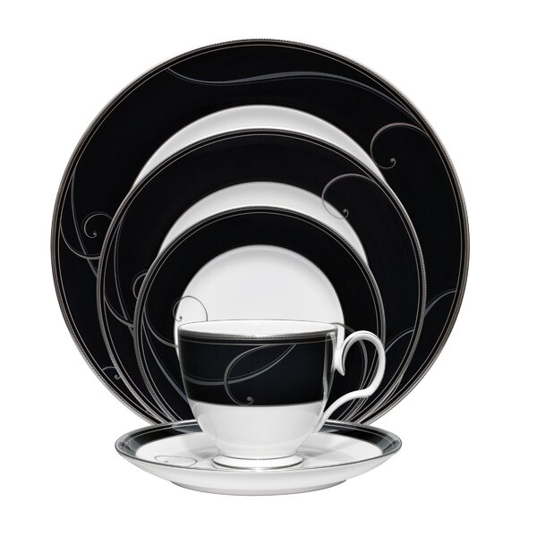 Wave 5 Piece Place Setting, Service for 1 (Set of 5) by Noritake