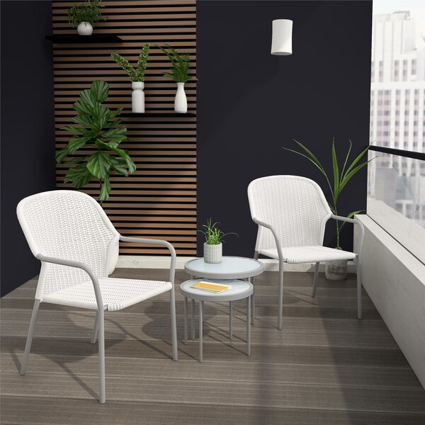 Neesa 4 Piece Rattan Seating Group By CosmoLiving By Cosmopolitan by CosmoLiving by Cosmopolitan Cool
