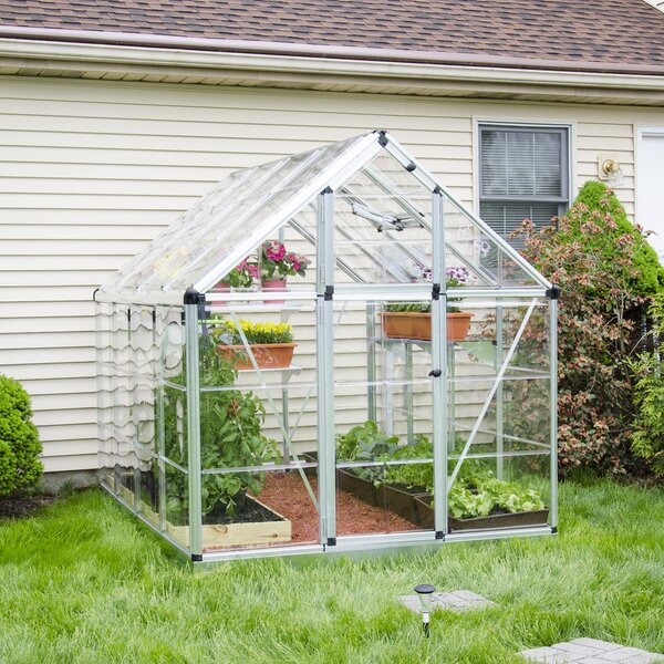 Snap & Grow 6 Ft. W x 8 Ft. D Polycarbonate Greenhouse by Palram