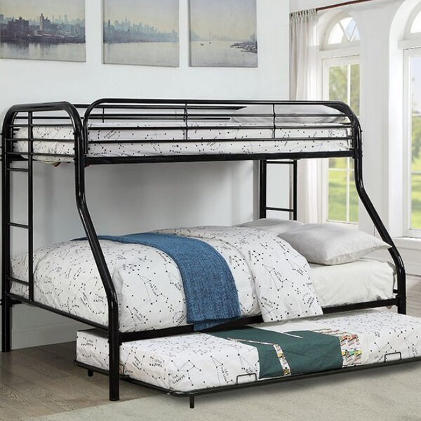 Alderete Twin over Twin Bunk Bed with Trundle by Harriet Bee