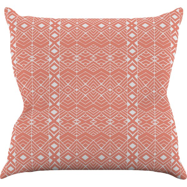 Aztec Roots by Pom Graphic Tribal Throw Pillow by KESS InHouse