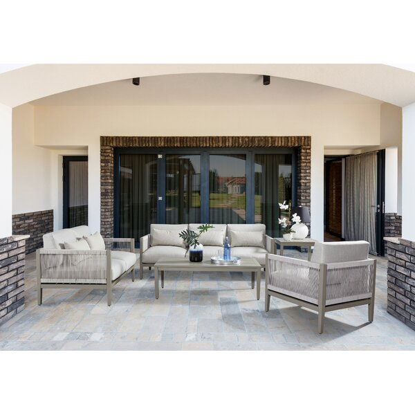 Kari 5 Piece Sunbrella Sofa Set with Cushions by Bungalow Rose