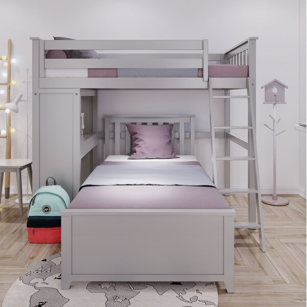 Getchell Twin Over Twin L-Shaped Bunk Bed by Harriet Bee