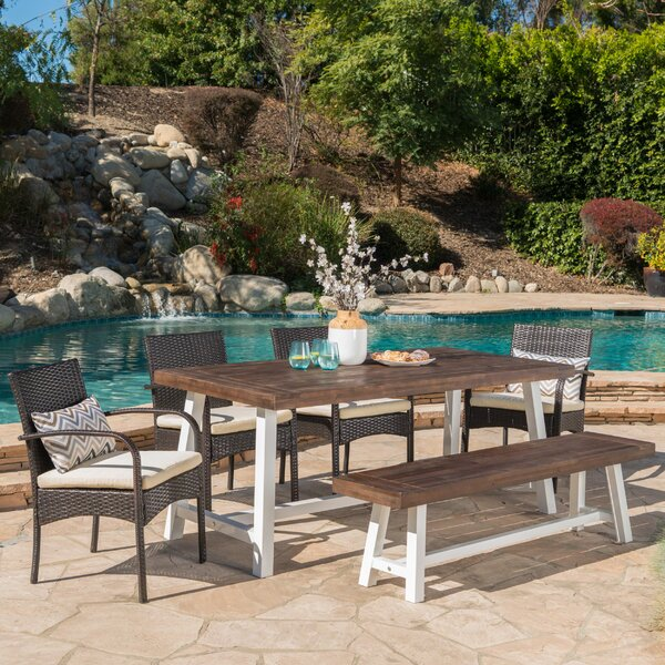 Ortonville 6 Piece Dining Set with Cushions by Gracie Oaks