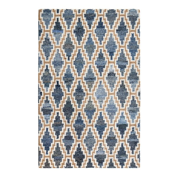 Bolanos Hand-Tufted Blue/Beige Area Rug by Brayden Studio